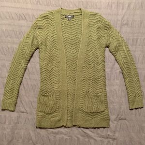 Army Green Knitted Cardigan